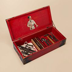 Vintage Tool Box with Tools