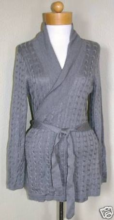 Liz Claiborne W's Sweater Jacket Gray Sz XL $119-NWT