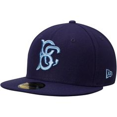 34690b1373a Men s Brooklyn Cyclones New Era Navy Authentic Road 59FIFTY Fitted Hat