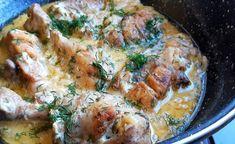 Nem volt ötletem, mit főzzek, ezért készítettem egy gyors tejfölös, hagymás csirkét. Hatalmas sikere lett! Tasty, Yummy Food, Chicken Recipes, Lunch, Minden, Crafts, Cooking, Manualidades, Delicious Food