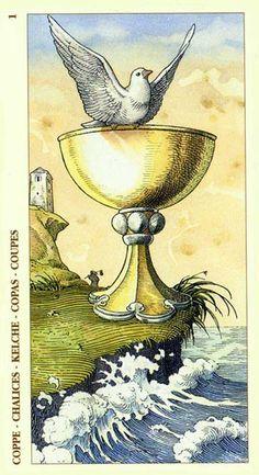 Ace of Cups - Albrecht Dürer Tarot (2002) by Giacinto Gaudenzi