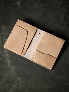 "Bas and Lokes Leather Goods - ""Magellan"" Natural Veg Tan Leather Double Passport Wallet, $130.00 (http://www.basandlokes.com/magellan-natural-veg-tan-leather-double-passport-wallet/)"