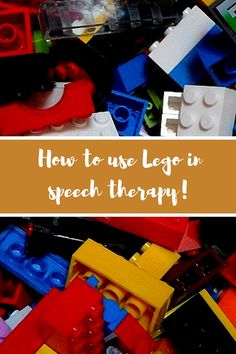 Ideas on how to use Lego to develop a range of language skills. Love these ideas! www.agiftofspeech.com