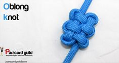 How to make an oblong knot.
