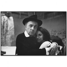 Federico Fellini with Mary Ellen Mark,Satyricon, Rome, Italy 1969