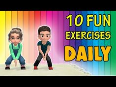 This video workout contains 10 fun exercises for kids which they can do easily at home. It's a set of simple and effective physical activities for children t. Physical Activities For Kids, Exercise Activities, Daily Exercise Routines, Physical Education Games, Exercise For Kids, Dementia Activities, Baby Education, Motor Activities, Health Education