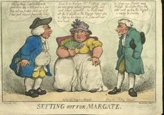 Woodward and Rowlandson, Setting Out for Margate. 1812. Case W778 .186 English Caricatures NL 1476.