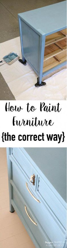 FINALLY a tutorial to show you how to paint a dresser the correct way with the best products for the job! With these products and technique, your painted furniture will stay beautiful for the long term! -- Love this home furniture tips. Furniture Projects, Furniture Making, Home Projects, Home Furniture, Dresser Furniture, Furniture Refinishing, Dresser Ideas, How To Paint Furniture, Furniture Stores