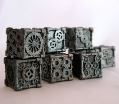 3D printed, Steampunk - dice