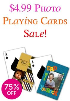 b8fcefde0840bb  4.99 Photo Playing Cards Sale!  + s h  ~ these make such fun Father s Day  gifts for Dad or creative presents for Grads!