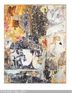 DUFRÊNE François, 1930-1982 (France) Title : 1/8 du plafond de la 1ère Biennale de Paris Date : 1959