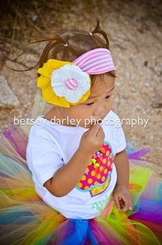 Baby Girl Headband..Toddler Headband..Infant Headband..Pink Lemonade Jersey Knit Headband..Photography Prop..Pink..Yellow..Stretch. $20.00, via Etsy.