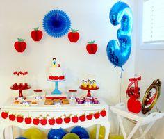 Little Wish Parties | Fruity Apple Snow White 3rd Birthday | https://littlewishparties.com