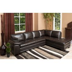 Devonshire II Top Grain Leather Sectional
