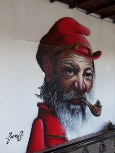 Sipros, pipe, oldie, street art, graffitti, photo.