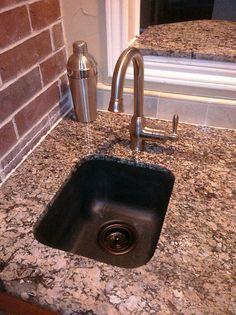 Swanstone Clics Undermount Bar Sink W Black Drain