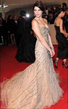 Ashley Greene in Donna Karen (at the Met Gala Ball - Alexander McQueen's 'Savage Beauty' Exhibit 2011)