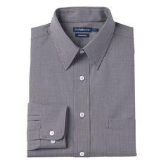 Men's Croft & Barrow® Classic-Fit Easy Care Point-Collar Dress Shirt, Size: 18.5-34/35, Black