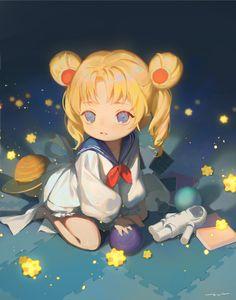 Sailor Saturn, Sailor Moon Stars, Sailor Moon Crystal, Cristal Sailor Moon, Sailor Moon Meme, Sailor Moon Fan Art, Sailor Moon Character, Sailor Moon Usagi, Sailor Moon Personajes