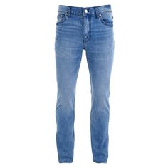 BLK DNM Men's Jeans 5 Slim Fit Jeans - Windsor Blue (13.975 RUB) ❤ liked on Polyvore featuring men's fashion, men's clothing, men's jeans, blue, mens slim cut jeans, mens slim fit jeans, mens jeans, mens slim jeans and mens blue jeans