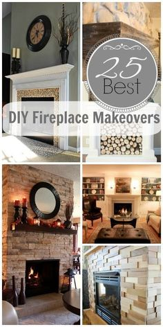 25 Best DIY Fireplace Makeovers | @Remodelaholic .com