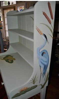 Furniture offered by Re-eco Design is created from preexisting, high quality, American made furniture that has been carefully refinished, re-purposed and embellished with beautiful hand painted designs using low VOC paints.