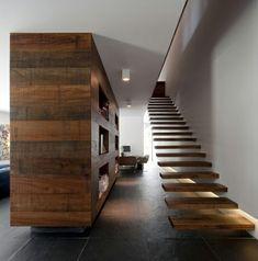 escalier flottant en bois                                                                                                                                                                                 Plus