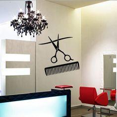 Wall decal decor decals art hair salon curl by DecorWallDecals