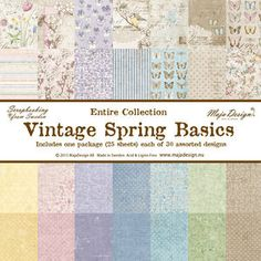 The Rubber Buggy  - Maja Designs - 12 x 12 Vintage Spring Basics - Complete Collection, $49.99 (http://www.therubberbuggy.com/maja-designs-12-x-12-vintage-spring-basics-complete-collection/)