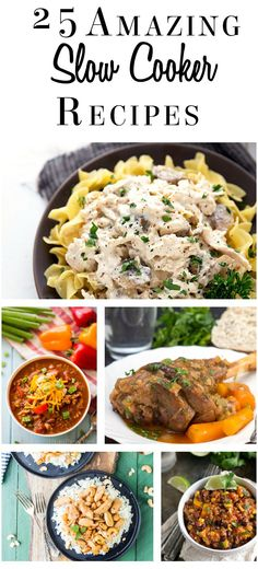 25 Amazing Slow Cooker Recipes - These recipes from around the web will give you some wonderful ideas to make the most of your slow cooker.