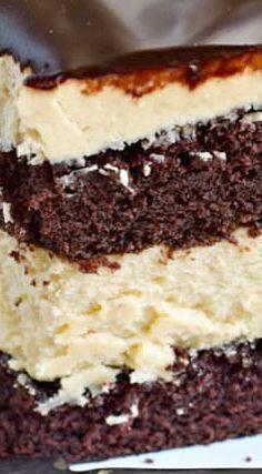 Chocolate Peanut Butter Cheesecake Cake