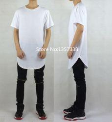 Online Shop fashion men t shirt hip hop casual urban clothing zipper streetwear white black homme femme men clothing styles long t shirt|Aliexpress Mobile