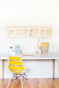 DIY: pegboard words #Alphabet #Letters #Storage #Tools
