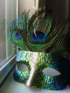 Items similar to Hand-Sequined Peacock Masquerade mask. on Etsy Peacock Mask, Peacock Costume, Peacock Feathers, Masquerade Party, Masquerade Masks, Masquerade Decorations, Diy Beauty Makeup, Venice Mask, Art Costume
