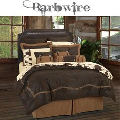 faux leather barbwire western bedding - Western Bedding