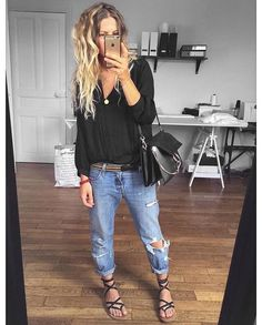 Casual day outfit jeans & sandals