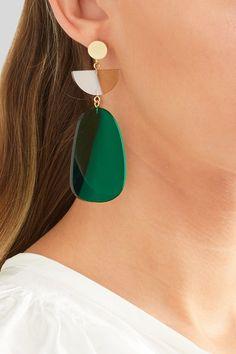 Isabel Marant | Gold-tone acrylic earrings | NET-A-PORTER.COM