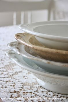 Old and antique Regout plates. My little white home by Nadine