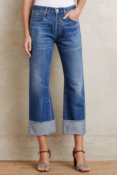 Citizens of Humanity Parker Relaxed Cuffed Crop Jeans Anberlin 24 Pants