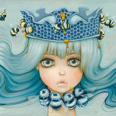 "Camilla's painting image ""Royal Jelly"" is available as a hand-signed 11x14"" Mini Print. Signed prints come to The Camilla Store from Camilla's Conv..."