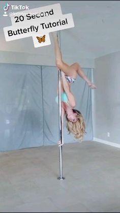 Pole Fitness Moves, Pole Dance Moves, Pole Dancing Fitness, Pole Dance Debutant, Stripper Poles, Pole Tricks, Pole Art, Gymnastics Workout, Diy Butterfly