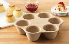 """The Pampered Chef ~ Single Servings Pan form the Stoneware collection.   Available March 1st  """"Paula, The Pampered Chef Lady"""" on Facebook"""