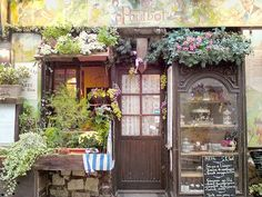french country bistro ~  Wish this was a picture I could hang in my kitchen!