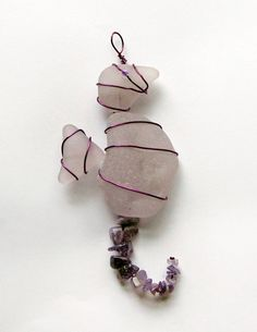 Amethyst  Seahorse Sea Glass Suncatcher Ornament by oceansbounty, $18.00