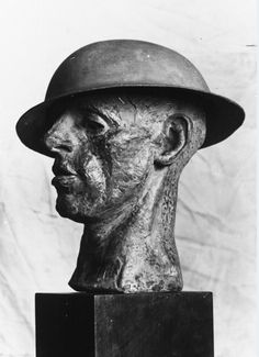Sir Jacob Epstein (1880-1959)  The Tin Hat  Portrait Bust  1916