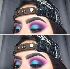 Purple & blue eyeshadow look