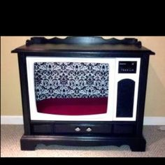 Cool idea- pet house repurposed from an old console tv!!