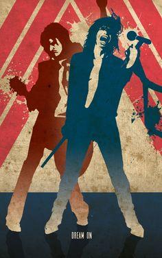 Dream on! #aerosmith #guitarhero #music #rock #posterplate #metal #poster