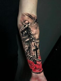 War memorial tattoo by Seb W. Limited spaces available at Holy Grail Tattoo Stud. - War memorial tattoo by Seb W. Limited spaces available at Holy Grail Tattoo Studio - Forearm Sleeve Tattoos, Tribal Sleeve Tattoos, Best Sleeve Tattoos, Tattoo Sleeve Designs, Tattoo Designs Men, Geometric Tattoos, Army Tattoos, Warrior Tattoos, Military Tattoos