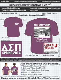Delta Sigma Pi SJ15684 R1 ...................................................  WORK 1 ON 1 with a member of our design team until your T-Shirt idea is perfect.... and ALWAYS get them on in time (or before you even need them) at the price you want!  ...................................................  Just click this design, it will take you to our website where you can  upload your ideas and get everything started!